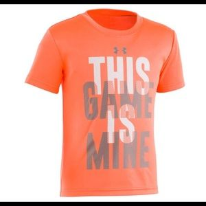 NWT Boys Under Armour This Game is Mine graphic T